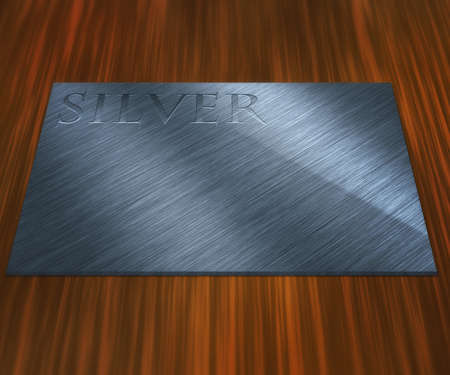 Silver Plate Stock Photo - 13698760