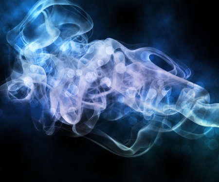 cigarette smoke: Blue Smoke Abstract Background