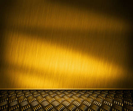 Golden Metal Room Background photo
