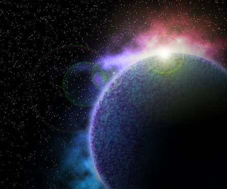 Planet in Space Background Stock Photo - 13829413