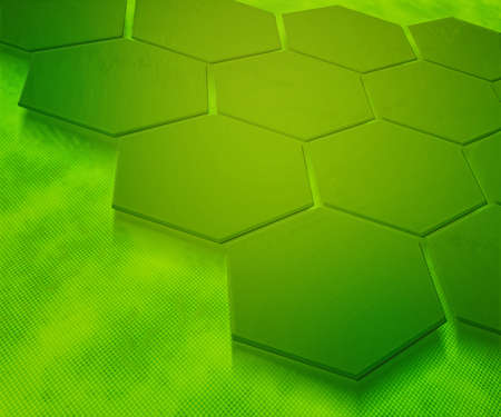 Green Hexagons Abstract Background Stock Photo - 13837560