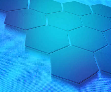 Blue Hexagons Abstract Background Stock Photo - 13837561