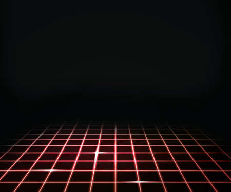 Red Virtual Laser Floor Background photo