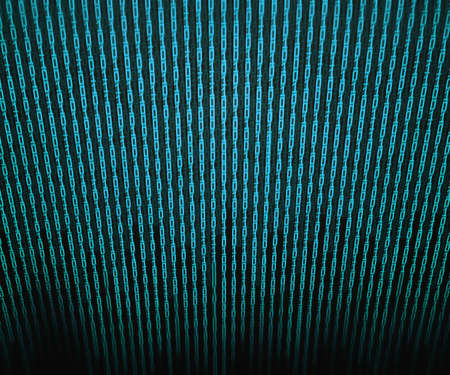 Blue Binary Matrix Background Stock Photo - 13867220