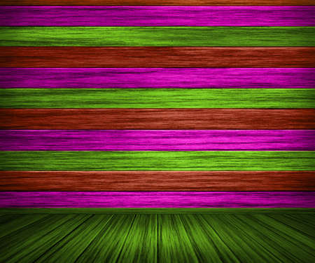 Colorful Painted Wooden Interior photo