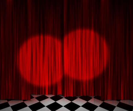 Red Curtain Spotlight Stage Background photo