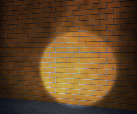 Orange Brick Wall Background photo