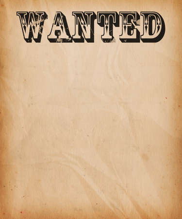 Vintage Wanted Poster Background Stock Photo