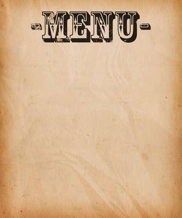 Vintage Menu Background photo