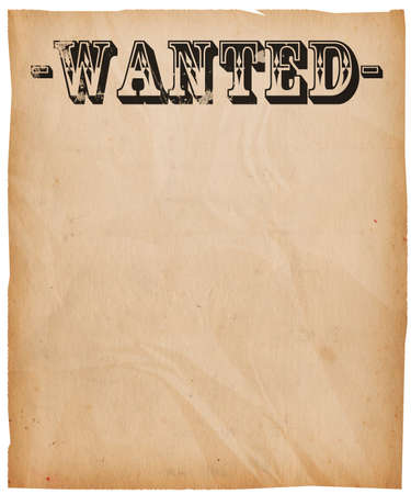 Vintage Wanted Poster Background Stock Photo - 14041878