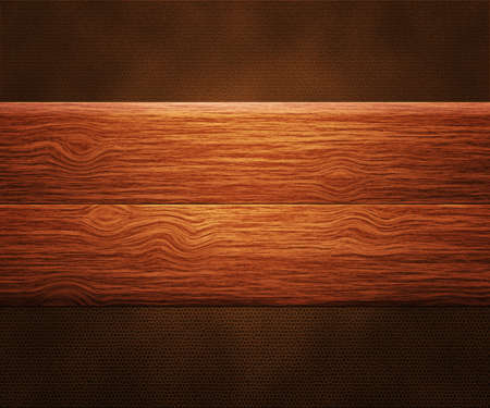 Wooden Boards on Leather photo