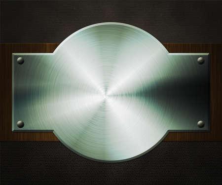 Shiny Metal Plate Background Stock Photo - 14056395