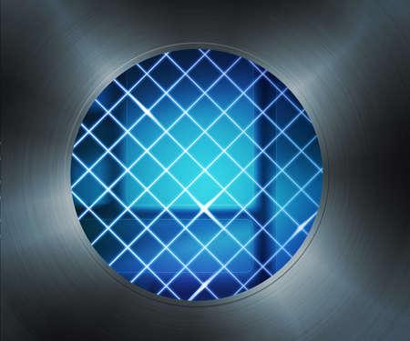 Laser Digital Hole Background Stock Photo - 14056393