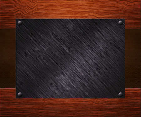 Metal Plate on Boards Background Stock Photo - 14056418