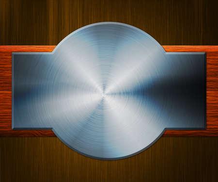 Shiny Metal Plate Background Stock Photo - 14056391