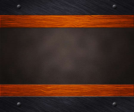 Metal Wood Leather Background photo