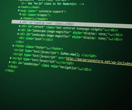 html Code Green Background Stock Photo - 14070680