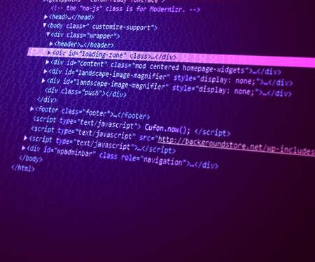 Violet html Code Background Stock Photo - 14070682