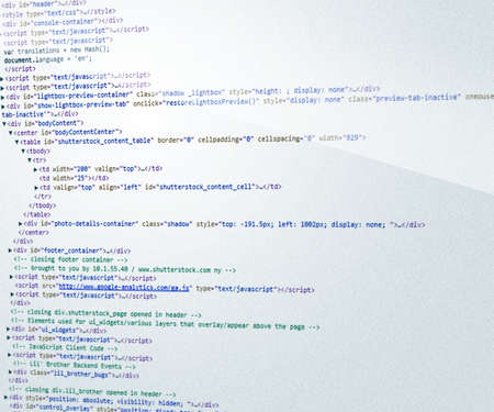 html Code Background Stock Photo - 14069982