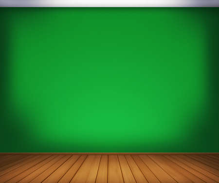 Green Empty Room Background photo