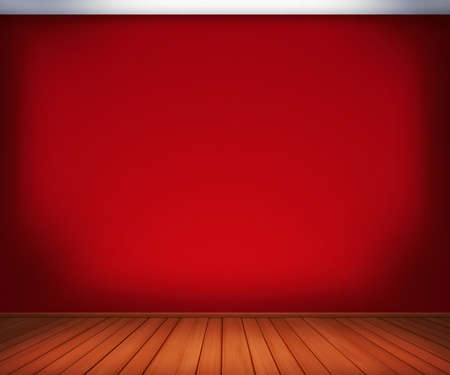 Red Empty Room Background photo