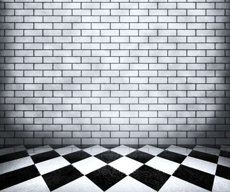 White Chessboard Interior Background photo
