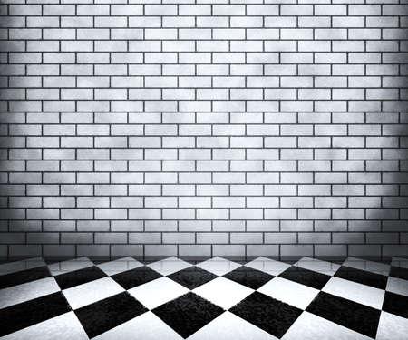 White Chessboard Interior Background Stock Photo - 14204908
