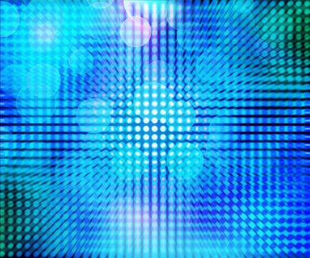 Blauwe LED Abstract