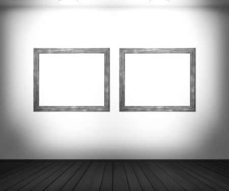 White Gallery Background photo