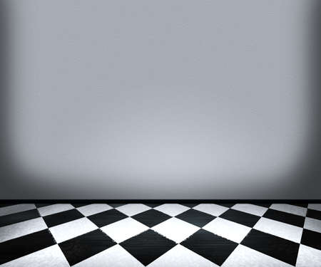 Chessboard Floor Tiles in Room photo