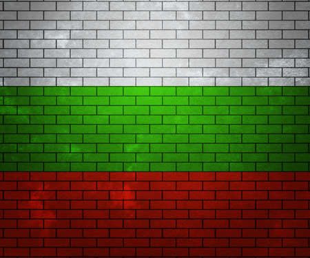 Flag of Bulgaria on Brick Wall photo