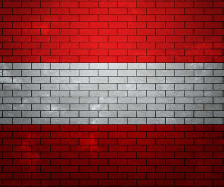 Flag of Austria on Brick Wall photo