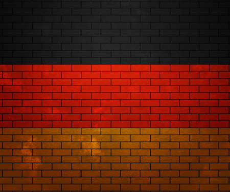 suface: Flag of Germany on Brick Wall