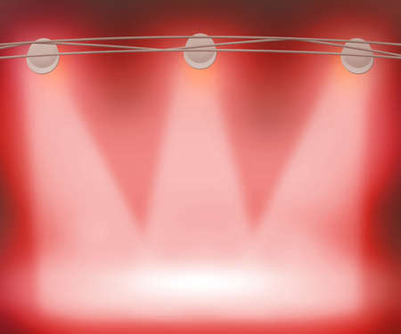 Red Spotlights Background photo