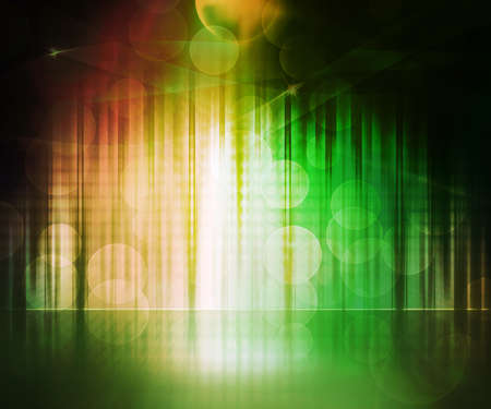 dance floor: Green Abstract Stage Background