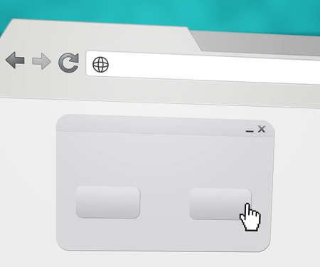 url web: Blank Pop-up in Web Browser