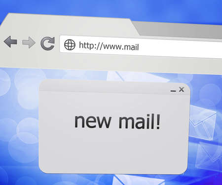 New Mail Pop-up in Web Browser photo