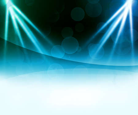 Blue Laser Abstract Background photo