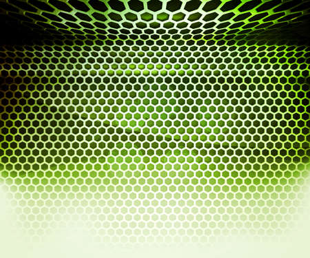 isoalated: Green Hex Grid Abstract Background