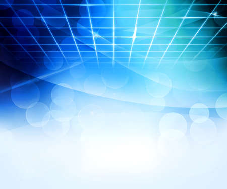 high tech: Blue Virtual Abstract Background Stock Photo