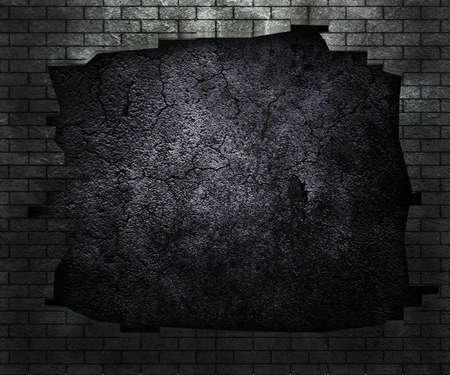 Hole in Brick Wall photo