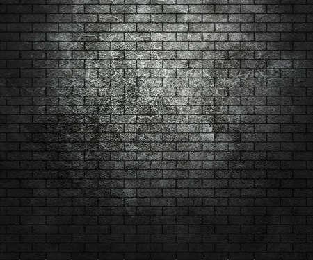 pared rota: Grunge pared de ladrillo oscuro