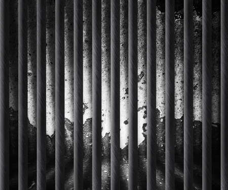 Dark Prison Cell Background Stock Photo - 14367382