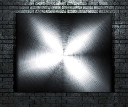 Metal Plate on Grunge Wall photo