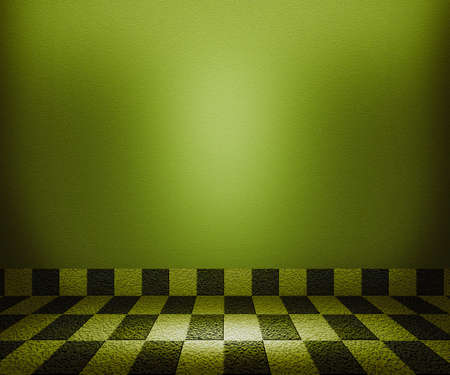 Green Chessboard Mosaic Room Background photo
