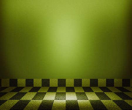 Green Chessboard Mosaic Room Background photo