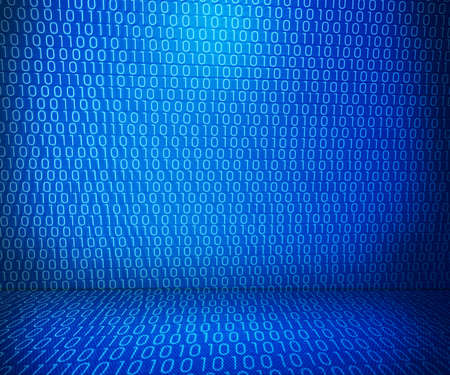 Blue Binary Room photo