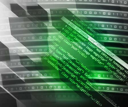 operand: Green Source Code Background