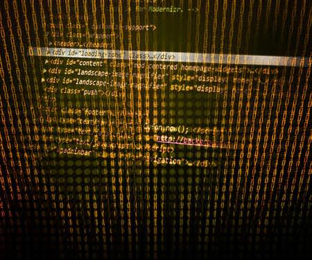 Gold Program Code Background photo