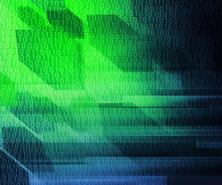 Green Binary IT Background photo